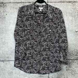 Joie | Printed Button Down Blouse